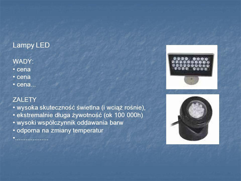 Lampy LED WADY: • cena • cena... ZALETY