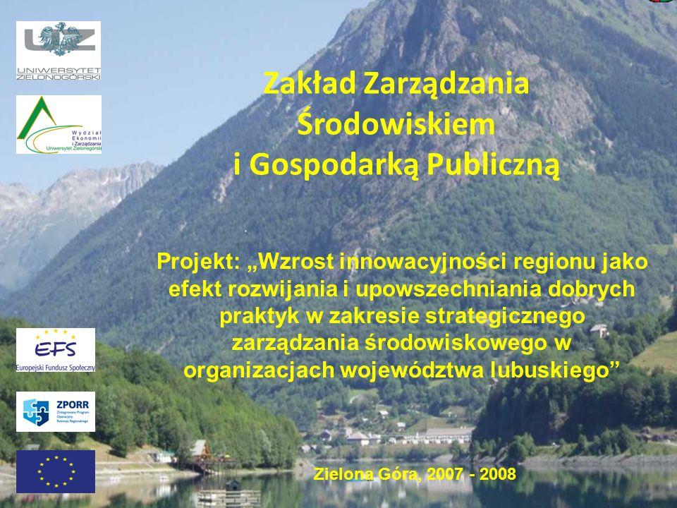 Zakład Zarządzania Środowiskiem i Gospodarką Publiczną