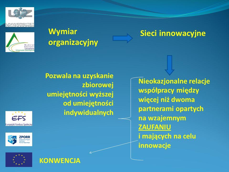 Wymiar organizacyjny Sieci innowacyjne