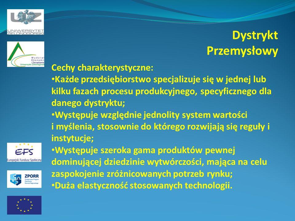 Dystrykt Przemysłowy Cechy charakterystyczne: