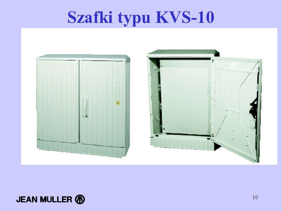 Szafki typu KVS-10