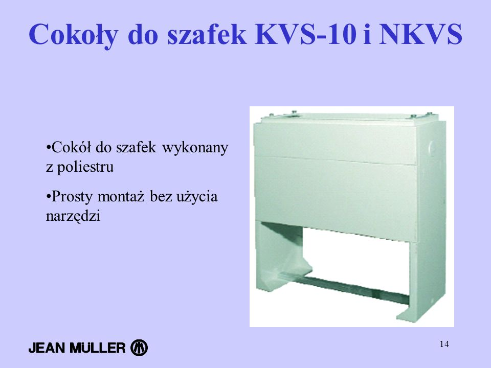 Cokoły do szafek KVS-10 i NKVS