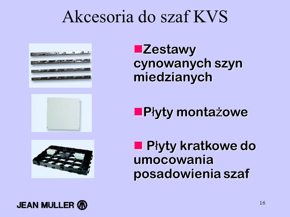 Akcesoria do szaf KVS Zestawy cynowanych szyn miedzianych