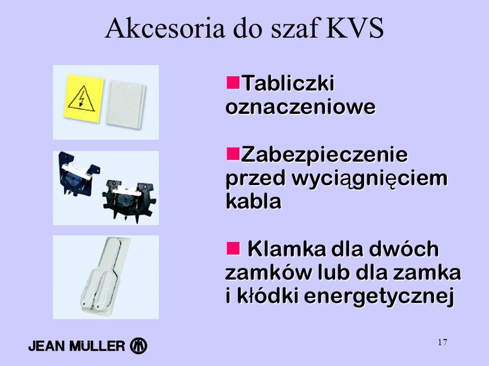 Akcesoria do szaf KVS Tabliczki oznaczeniowe