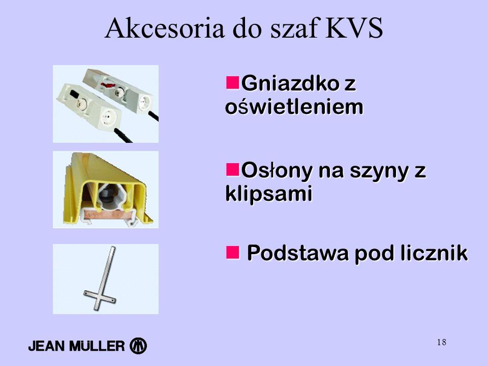 Akcesoria do szaf KVS Gniazdko z oświetleniem