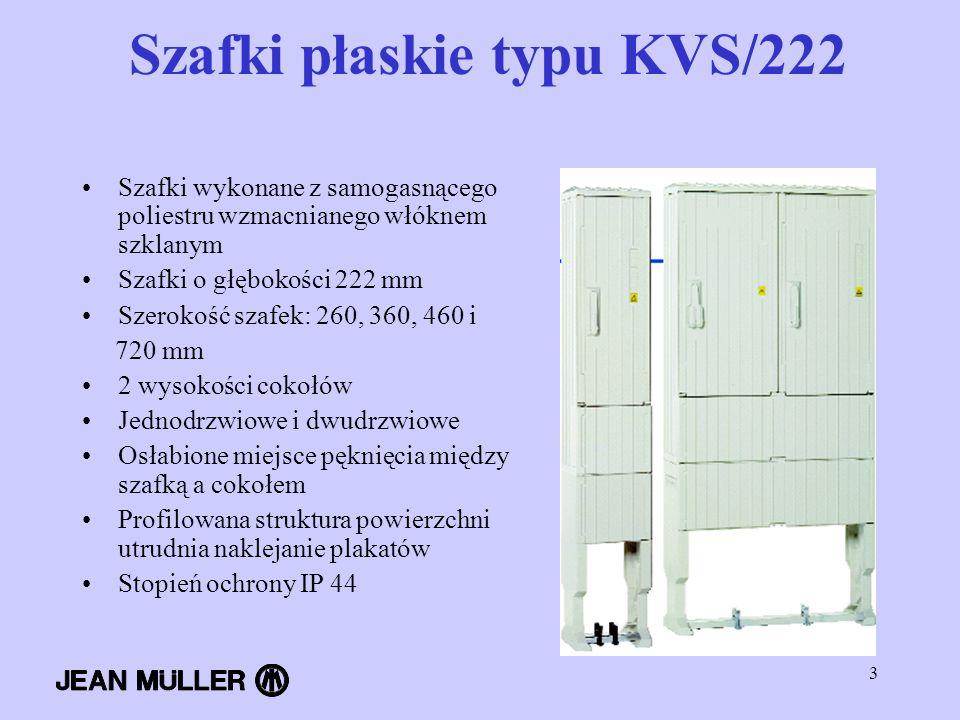 Szafki płaskie typu KVS/222