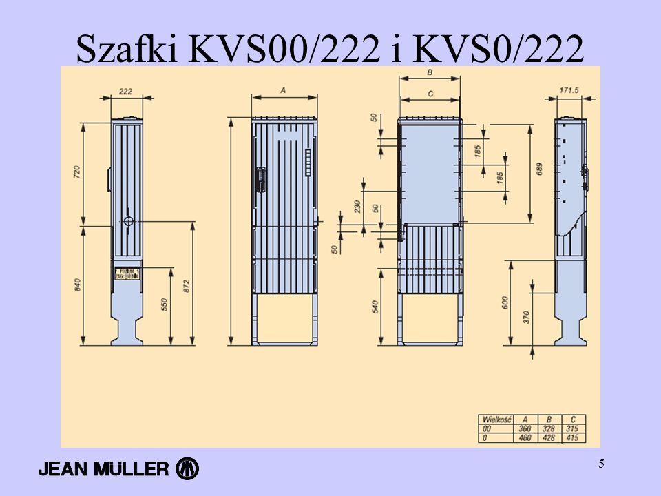 Szafki KVS00/222 i KVS0/222