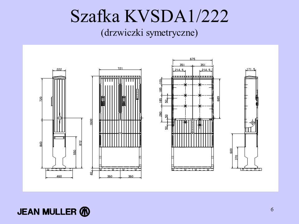 Szafka KVSDA1/222 (drzwiczki symetryczne)