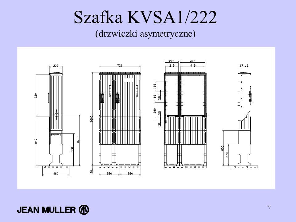 Szafka KVSA1/222 (drzwiczki asymetryczne)