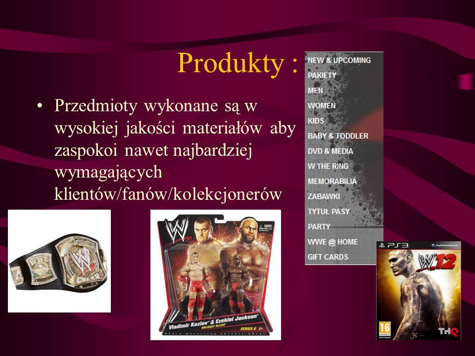 Produkty : Przedmioty wykonane są w wysokiej jakości materiałów aby zaspokoi nawet najbardziej wymagających klientów/fanów/kolekcjonerów.