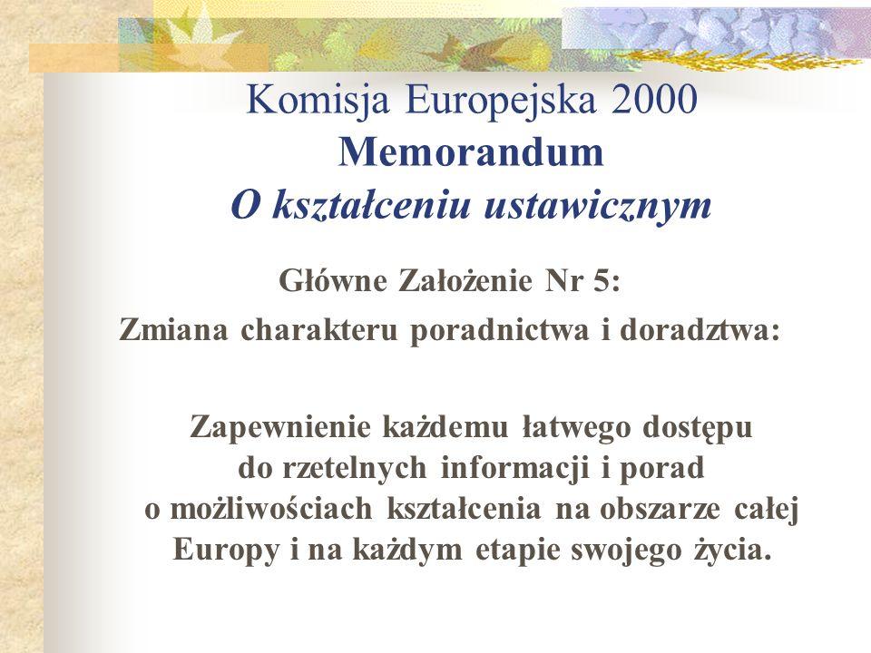 Komisja Europejska 2000 Memorandum O kształceniu ustawicznym