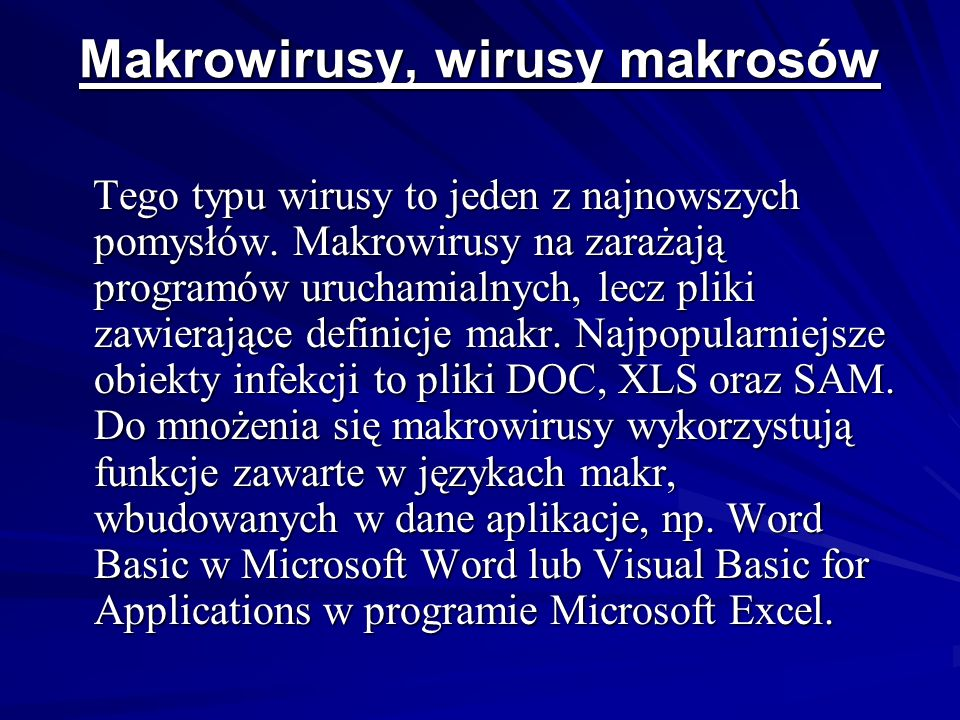 Makrowirusy, wirusy makrosów