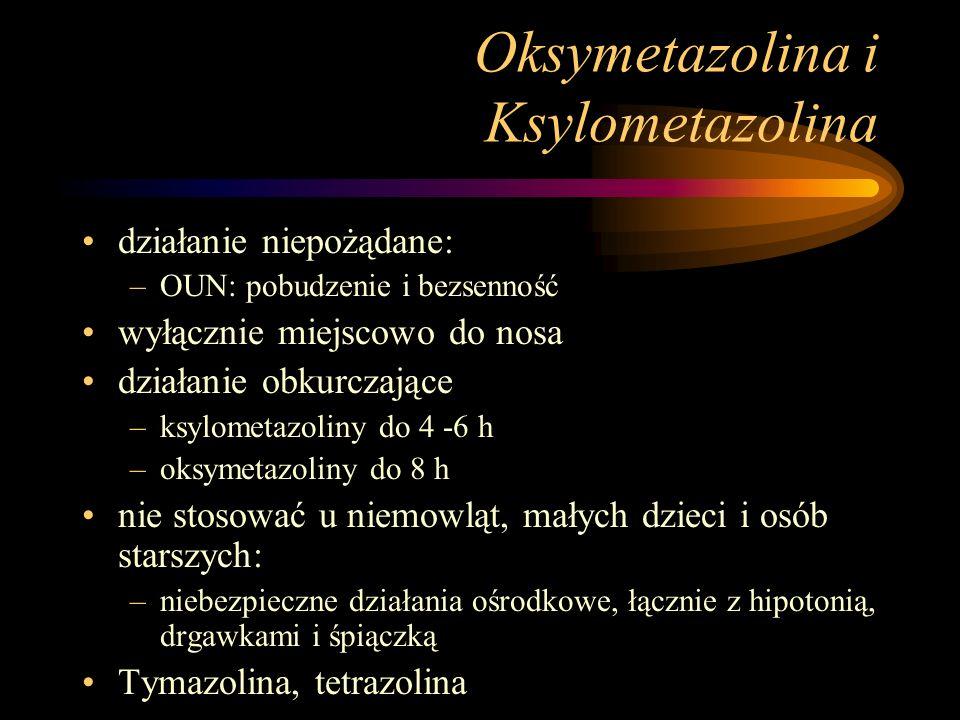 Oksymetazolina i Ksylometazolina