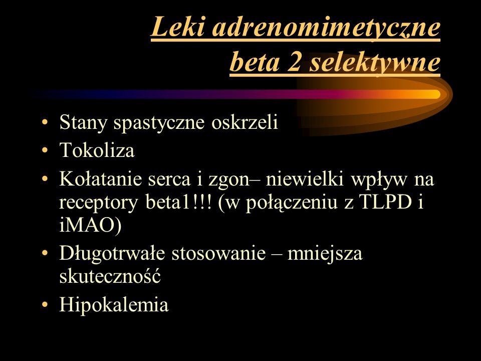 Leki adrenomimetyczne beta 2 selektywne