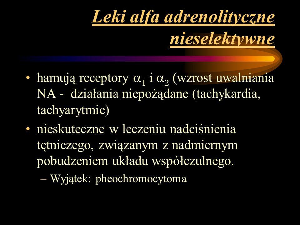 Leki alfa adrenolityczne nieselektywne
