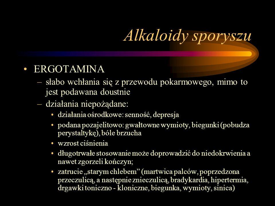 Alkaloidy sporyszu ERGOTAMINA