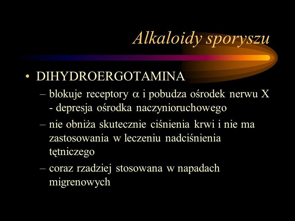 Alkaloidy sporyszu DIHYDROERGOTAMINA