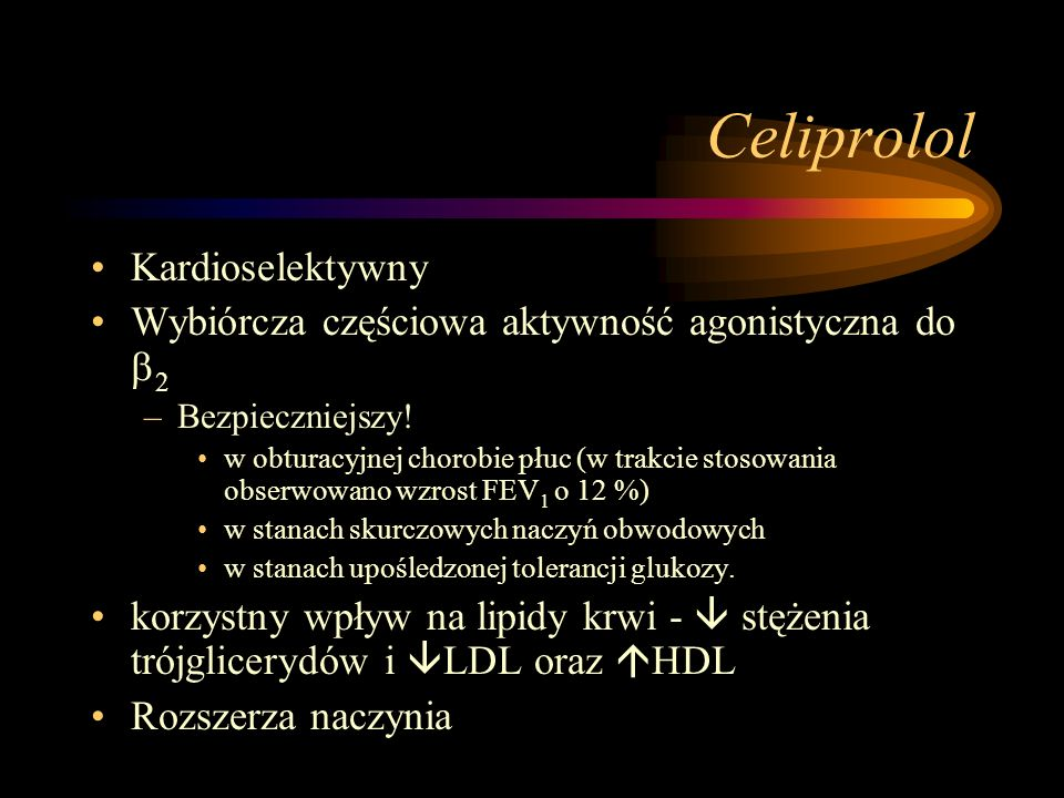 Celiprolol Kardioselektywny