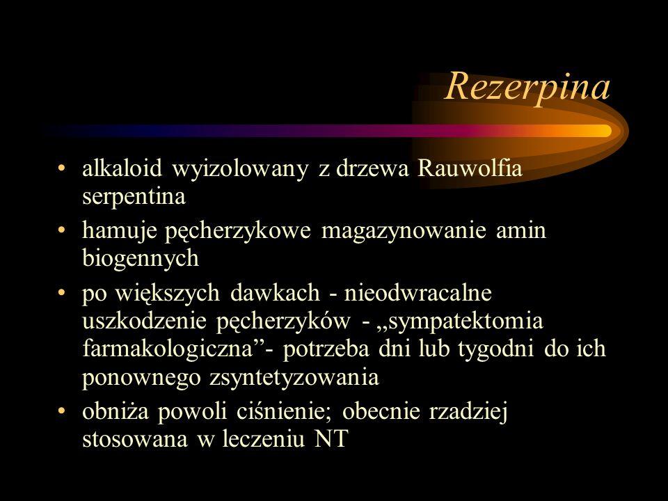 Rezerpina alkaloid wyizolowany z drzewa Rauwolfia serpentina