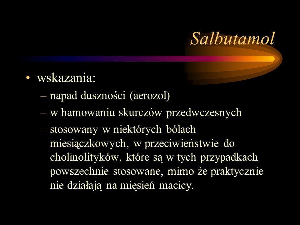 Salbutamol wskazania: napad duszności (aerozol)