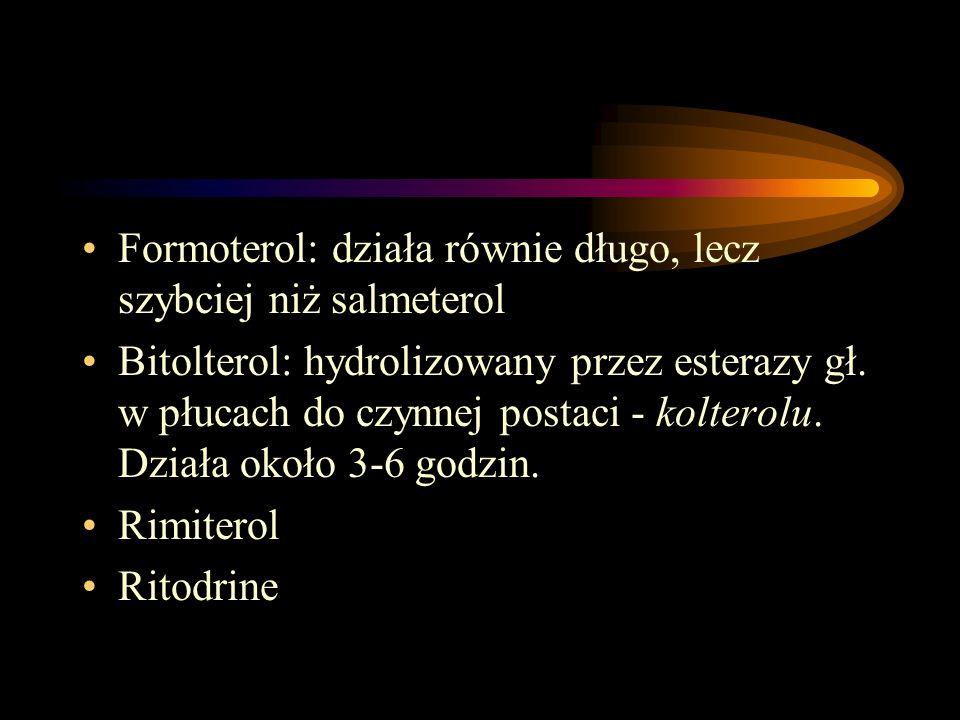 Formoterol: działa równie długo, lecz szybciej niż salmeterol