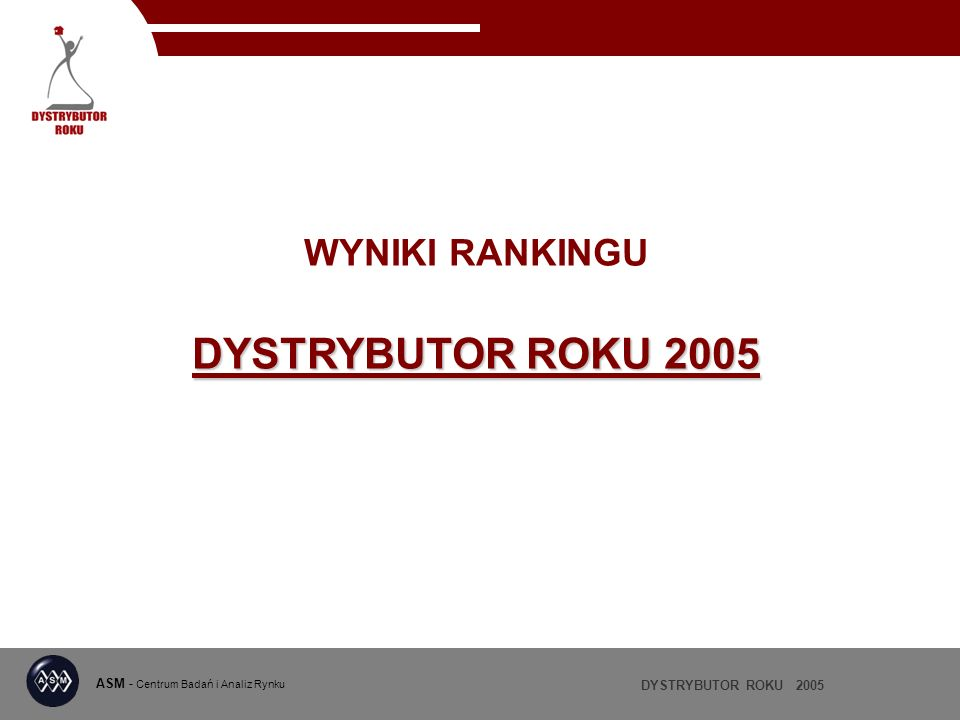 WYNIKI RANKINGU DYSTRYBUTOR ROKU 2005
