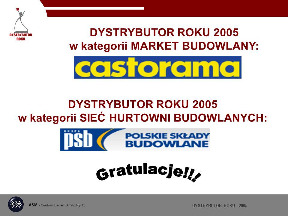 DYSTRYBUTOR ROKU 2005 w kategorii SIEĆ HURTOWNI BUDOWLANYCH: