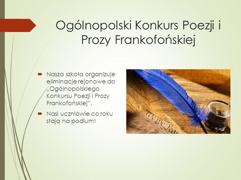 Ogólnopolski Konkurs Poezji i Prozy Frankofońskiej