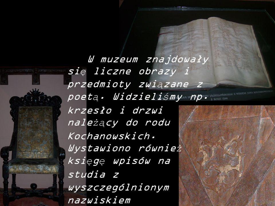 W muzeum znajdowały się liczne obrazy i przedmioty związane z poetą