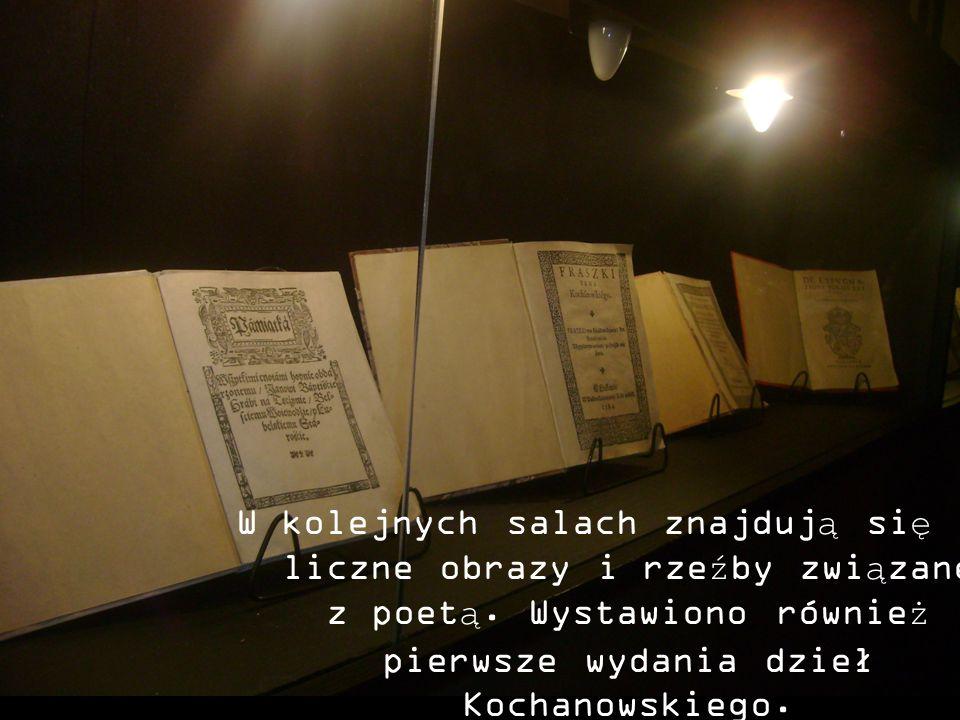 W kolejnych salach znajdują się liczne obrazy i rzeźby związane z poetą.