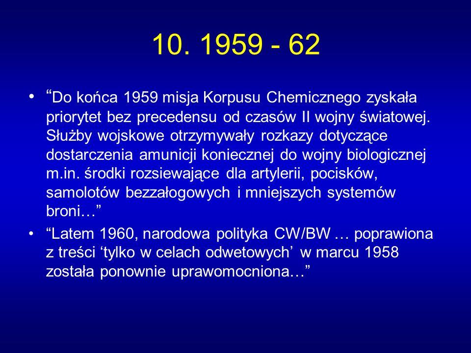 10. 1959 - 62