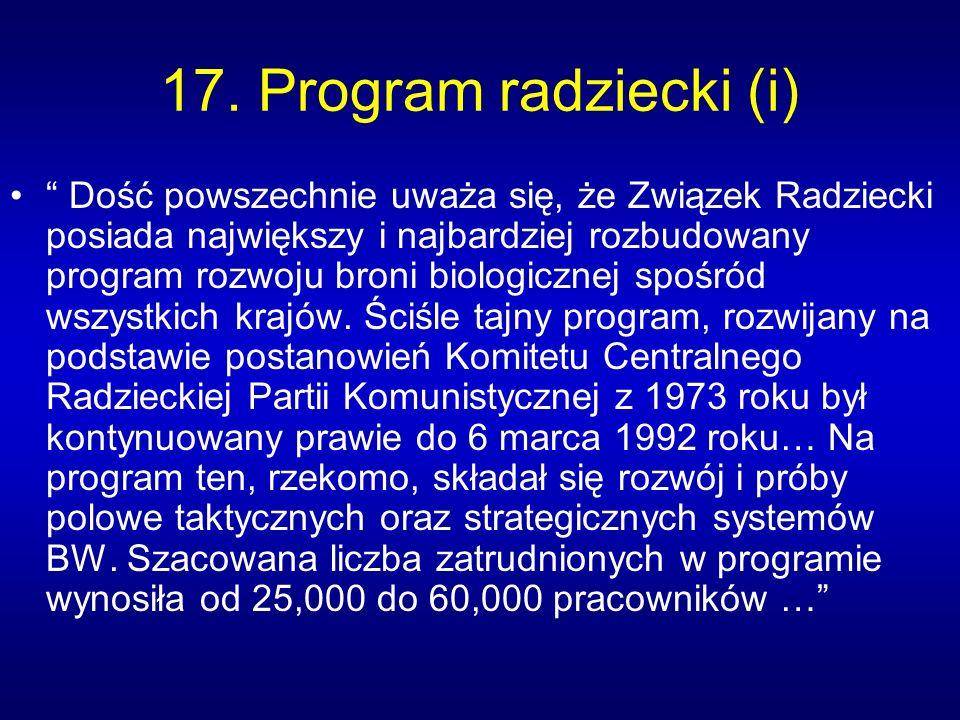17. Program radziecki (i)