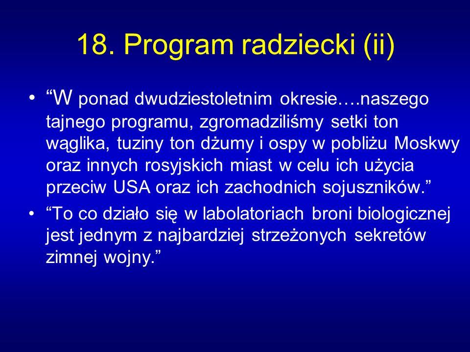 18. Program radziecki (ii)