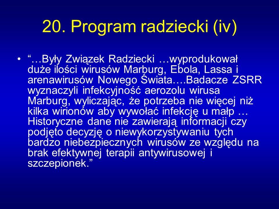20. Program radziecki (iv)