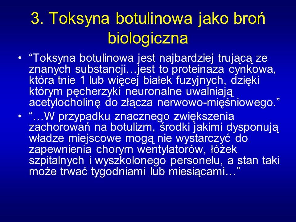 3. Toksyna botulinowa jako broń biologiczna