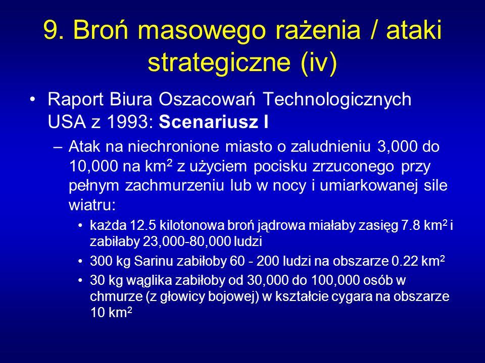 9. Broń masowego rażenia / ataki strategiczne (iv)