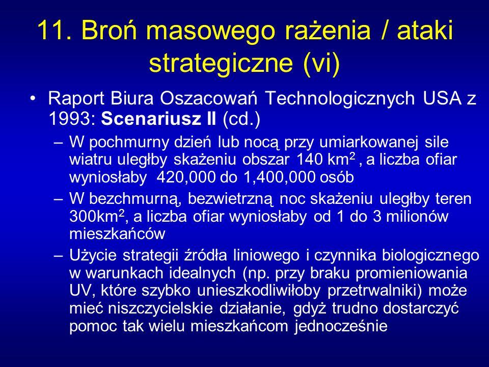 11. Broń masowego rażenia / ataki strategiczne (vi)