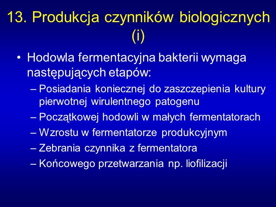 13. Produkcja czynników biologicznych (i)