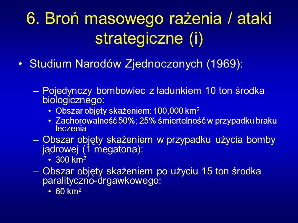 6. Broń masowego rażenia / ataki strategiczne (i)