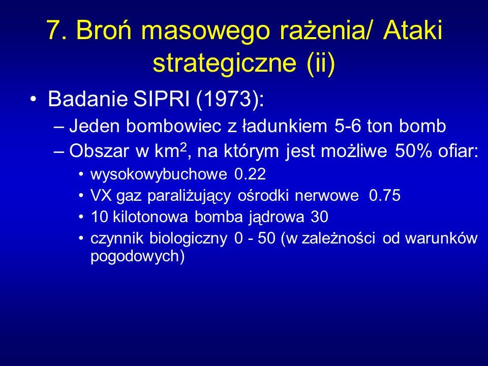 7. Broń masowego rażenia/ Ataki strategiczne (ii)