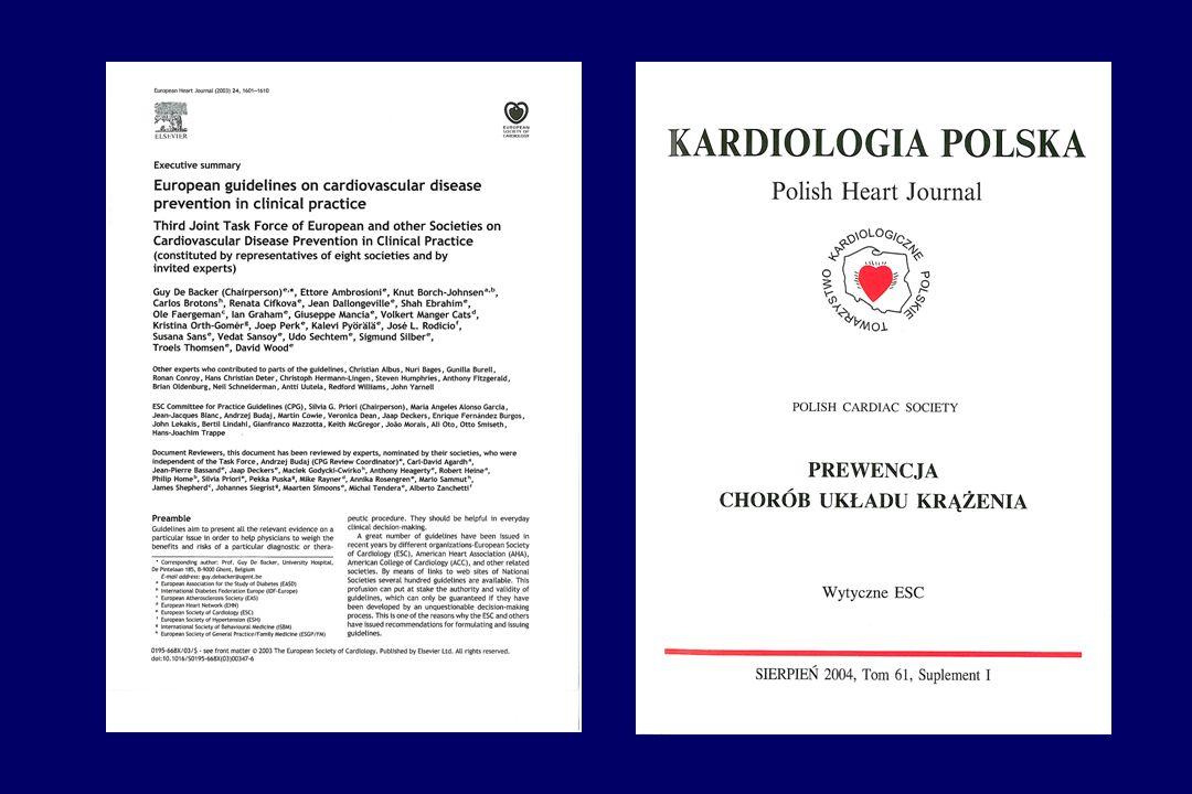 Program powstal w scislym zwiazku z opublikowaniem wspolnego stanowiska trzech Europejskich Towarzystw naukowych, w którym okreslono zasady prewencji choroby niedokrwiennej serca.
