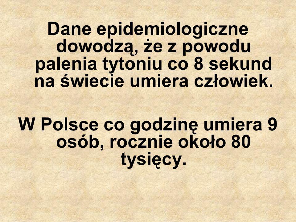 W Polsce co godzinę umiera 9 osób, rocznie około 80 tysięcy.