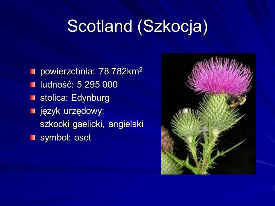 Scotland (Szkocja) powierzchnia: 78 782km2 ludność: 5 295 000