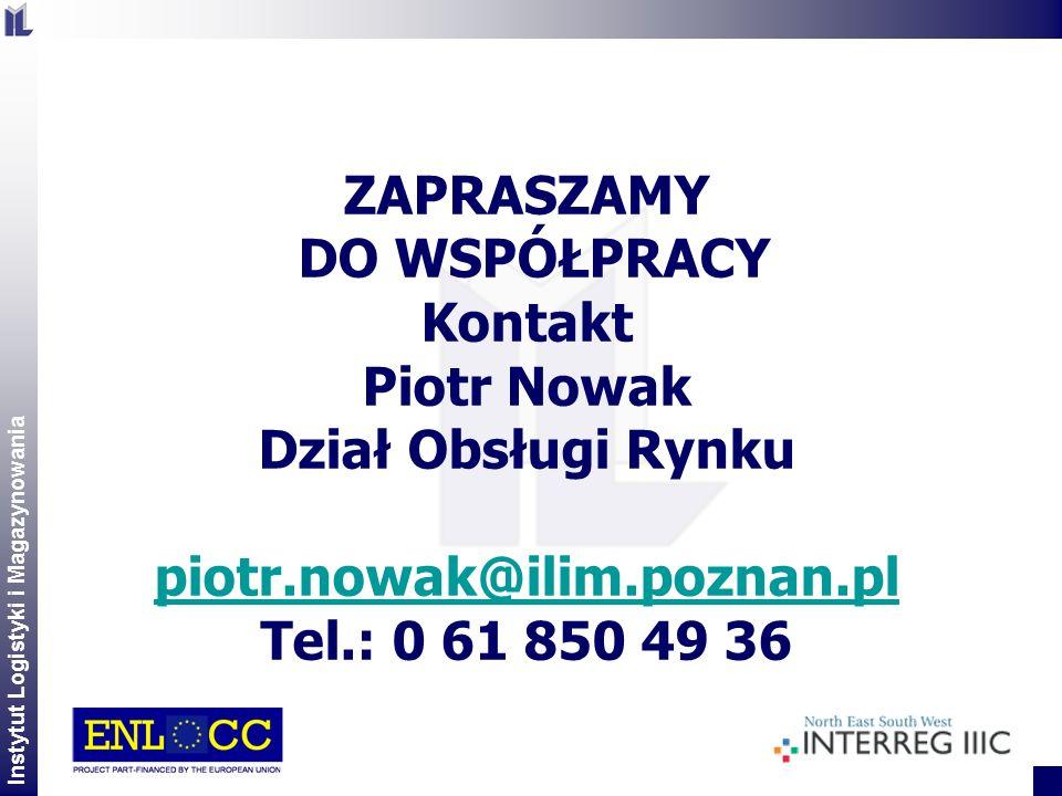 ZAPRASZAMY DO WSPÓŁPRACY. Kontakt. Piotr Nowak. Dział Obsługi Rynku. piotr.nowak@ilim.poznan.pl.