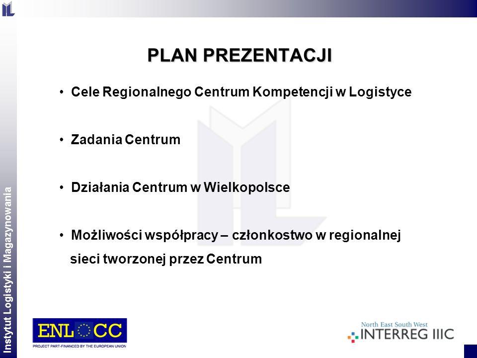 PLAN PREZENTACJI Cele Regionalnego Centrum Kompetencji w Logistyce