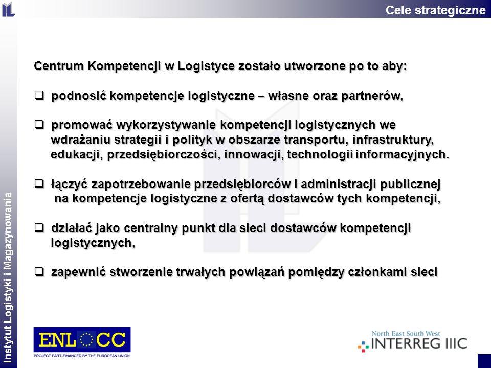 Cele strategiczneCentrum Kompetencji w Logistyce zostało utworzone po to aby: podnosić kompetencje logistyczne – własne oraz partnerów,