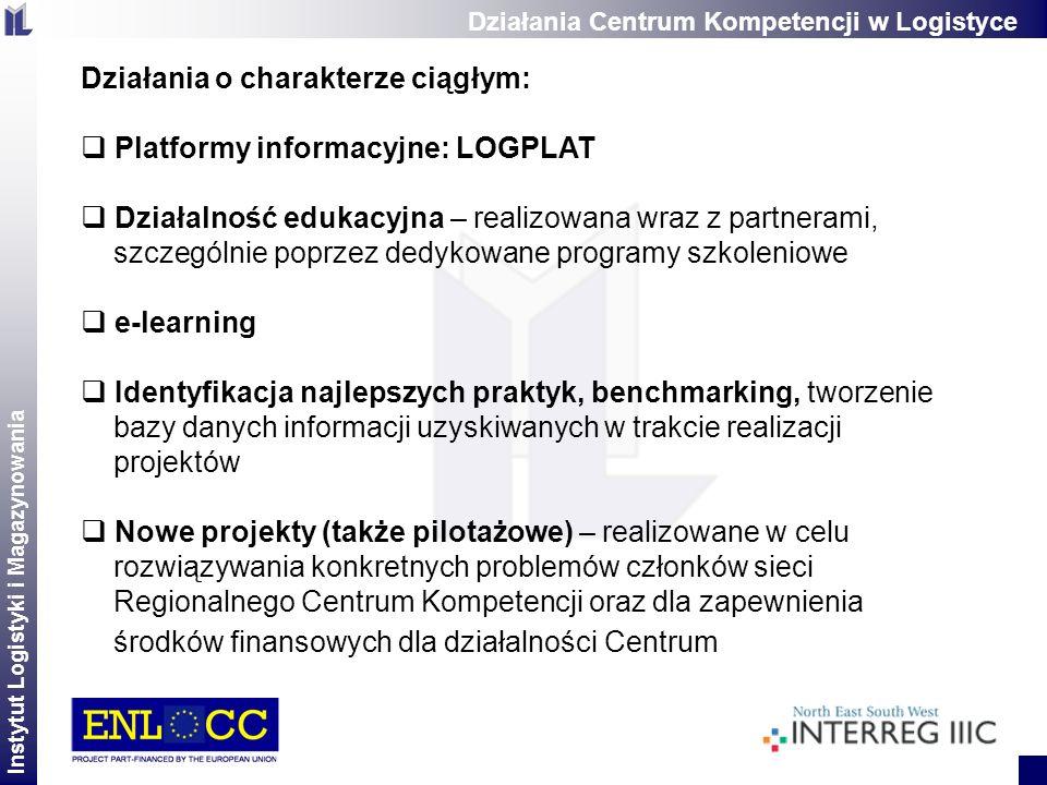 Działania o charakterze ciągłym: Platformy informacyjne: LOGPLAT
