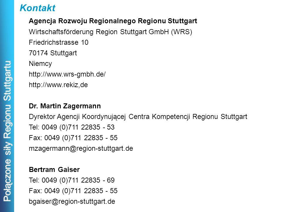 Kontakt Agencja Rozwoju Regionalnego Regionu Stuttgart