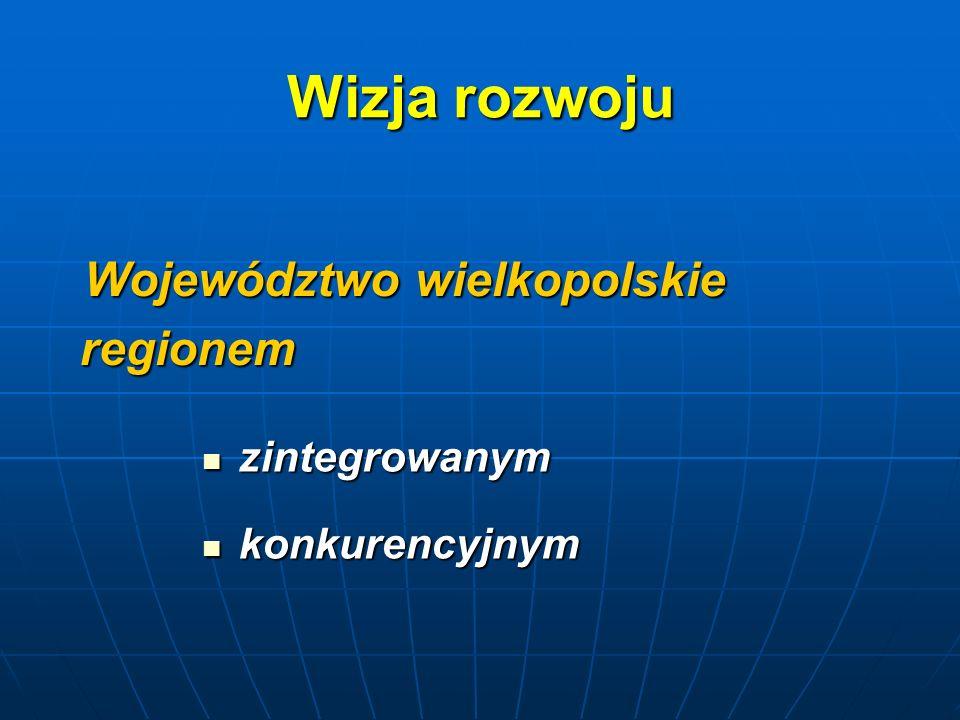 Wizja rozwoju Województwo wielkopolskie regionem zintegrowanym