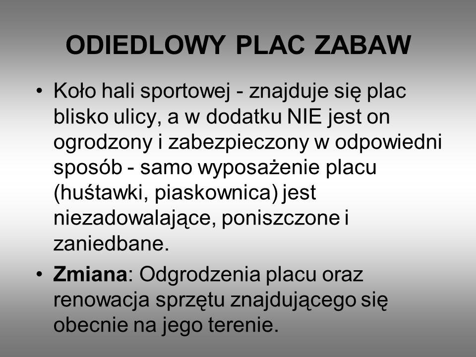 ODIEDLOWY PLAC ZABAW